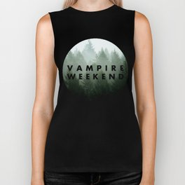 Vampire Weekend trees logo Biker Tank