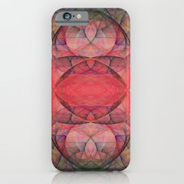 Fractal Art Boomerang Nebula iPhone Case