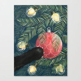 Here Comes Santa Claws Canvas Print
