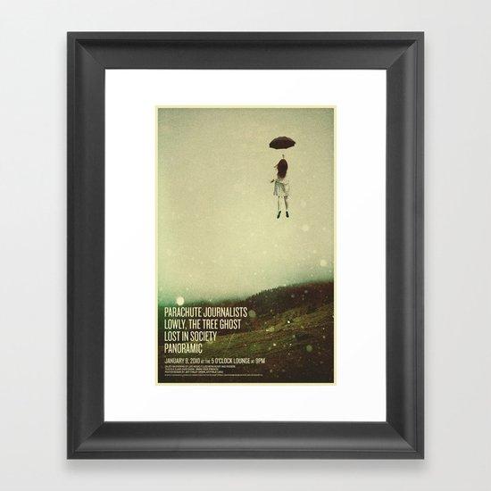 Parachute Journalists - Umbrella Girl Framed Art Print