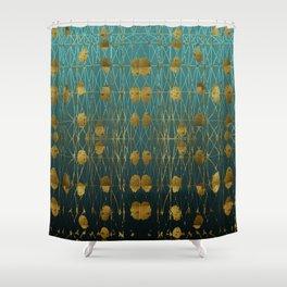 Kelp Forest Blue Shower Curtain