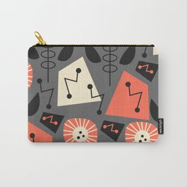 Mid-century modern flowers Carry-All Pouch