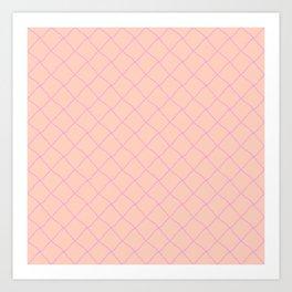 Grid lilla Art Print