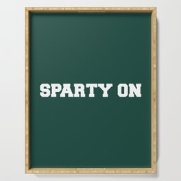 Sparty On Serving Tray