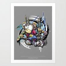 design monkey Art Print
