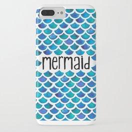 Mermaid Scales in Blue iPhone Case
