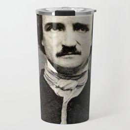 Edgar Allan Poe Engraving Travel Mug