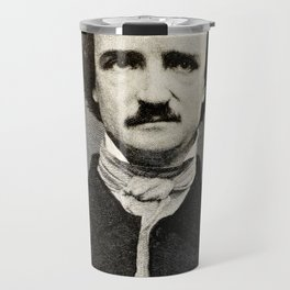 Edgar Allan Poe Engraving Travel Mug