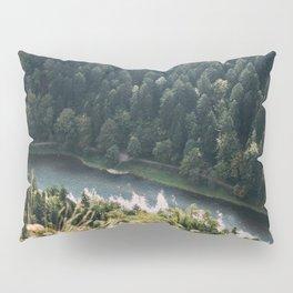 Aerial Forest River Pillow Sham
