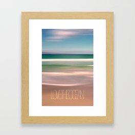 LOVE THE OCEAN I Framed Art Print