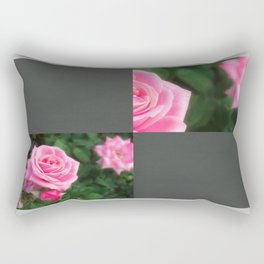 Pink Roses in Anzures 1 Blank Q6F0 Rectangular Pillow