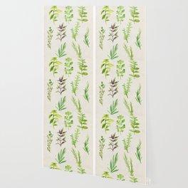 Watercolor Herbs Wallpaper