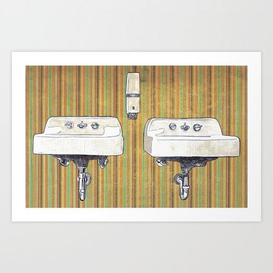 Sinks Art Print
