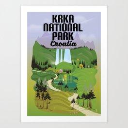 Krka National Park Art Print