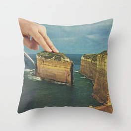 Serving up cake by the seaside II - Cake slice Throw Pillow