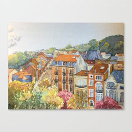 Brussels: neighborhood in Forest area. Canvas Print