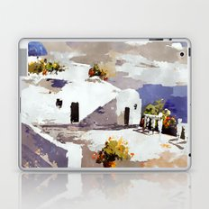 Greek Island Patio Scene Laptop & iPad Skin