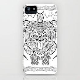Nga mea o te moana (Creatures of the sea) iPhone Case