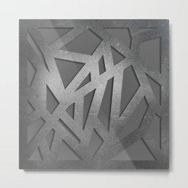 Metal Engraved Geometric pattern Metal Print
