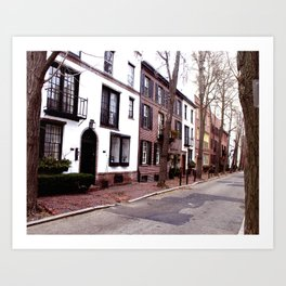 Quaint Philadelphia Streets Art Print