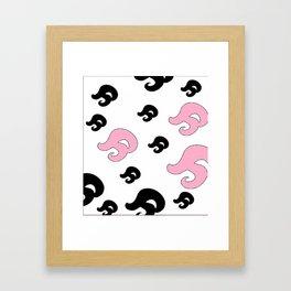 Tail Commas Framed Art Print