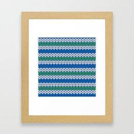 Knitted pattern Framed Art Print