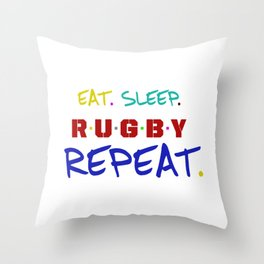 rugby lover ,  typography Throw Pillow