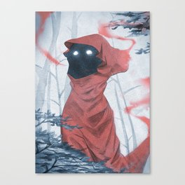 The red clothes girl Canvas Print