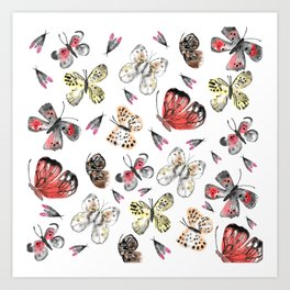 Fly fly butterfly Art Print