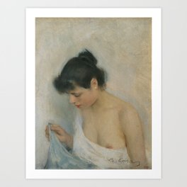 Nude Study by Ramon Casas Art Print