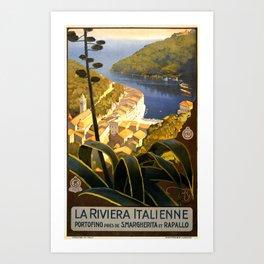 La Riviera italienne, Portofino près de S.Margherita et Rapallo Art Print