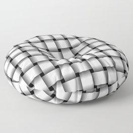 White Weave Floor Pillow