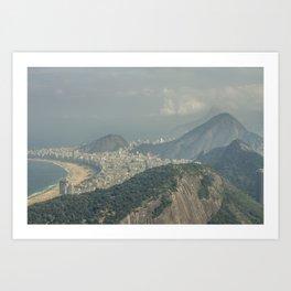 Copa Cabana Aerial View at Rio De Janeiro Brazil Art Print