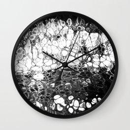 Cells - Black & White Wall Clock