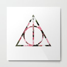 The Girly & Deathly Hallows Metal Print