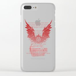 supernatural exorcism Clear iPhone Case