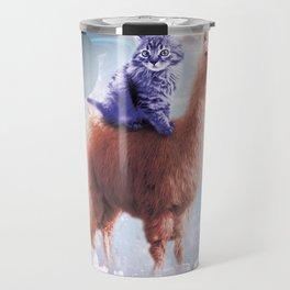 Rainbow Llama - Cat Llama Travel Mug