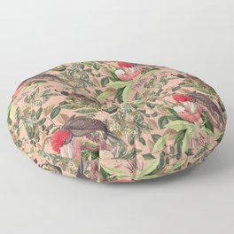 COCKATOO IN THE TROPICAL JUNGLE Floor Pillow