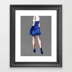 Blue Dress Framed Art Print