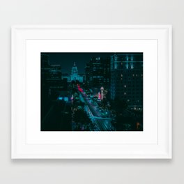 Texas State Capitol from Congress Ave Framed Art Print