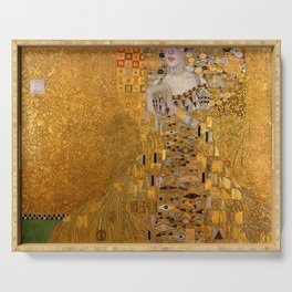 The Woman In Gold Bloch-Bauer I by Gustav Klimt Serving Tray