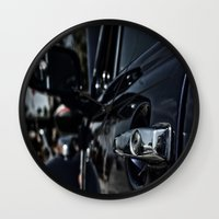 volkswagen Wall Clocks featuring volkswagen turtle by gzm_guvenc