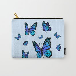 Butterfly Blues   Blue Morpho Butterflies Collage Carry-All Pouch