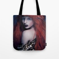 be brave Tote Bags featuring Brave by Imustbedead