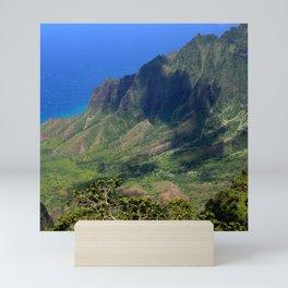 View From the Angels: Kalalau Valley, Kauai, Hawaii Mini Art Print