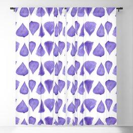Teardrop Pattern Brush Graphic Artwork Ultra Violet Love Blackout Curtain