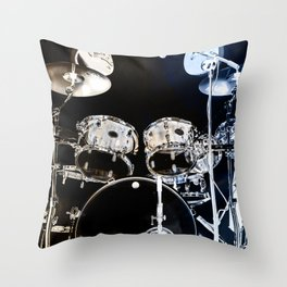 DRUMS BLUE AND GOLD Throw Pillow