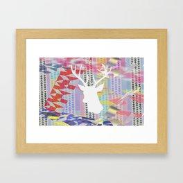 Deer'n pop Framed Art Print