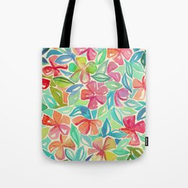 Tropical Floral Watercolor Painting Tote Bag