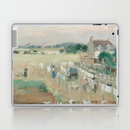 Hanging the Laundry out to Dry by Berthe Morisot Laptop & iPad Skin